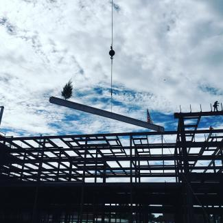 St. Bernards Topping Out Ceremony
